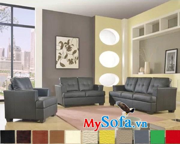 bộ sofa da cho phòng khách cực sang trọng mys 0619207