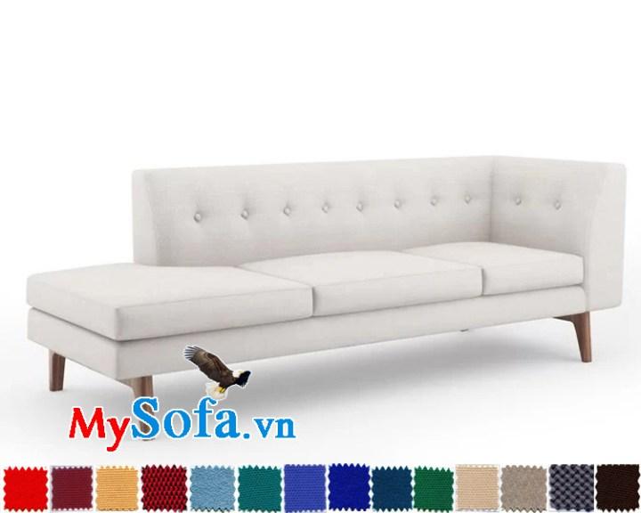 mẫu ghế văng dài thiết kế độc lạ MyS 0619349 với một tay vịn