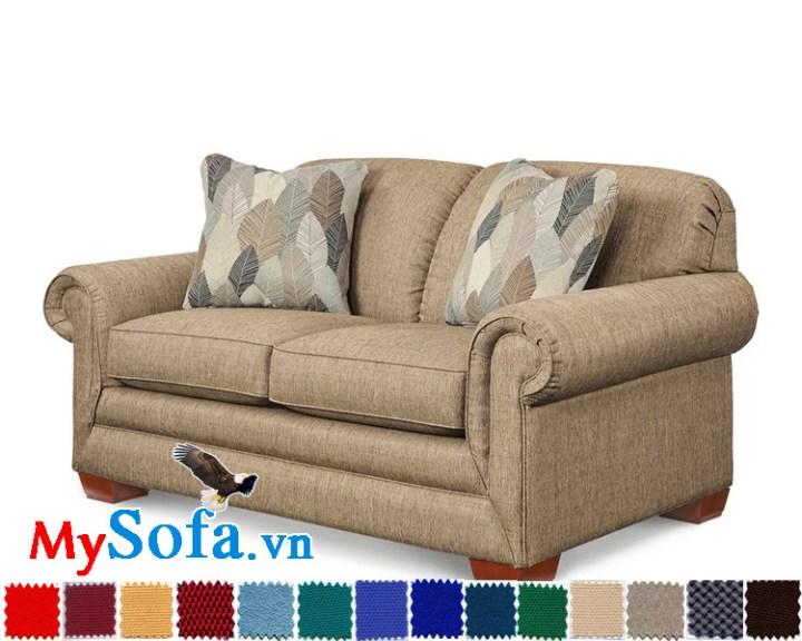 hình ảnh sofa văng chất vải thô thiết kế tinh tế