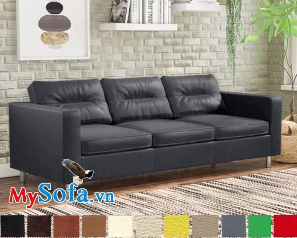 mẫu sofa da giá rẻ mys 0619259 sở hữu kiểu dáng nhẹ nhàng