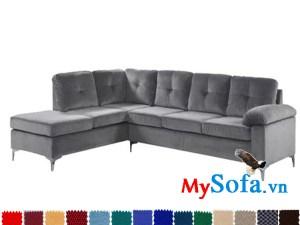 sofa góc tiện lợi giá rẻ mys 0619267 với chất liệu nỉ nhung sang trọng
