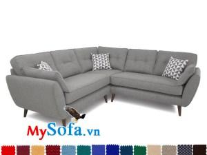Sofa góc chất liệu nỉ màu ghi xám thanh lịch và vô cùng sạch sẽ MyS-1910937