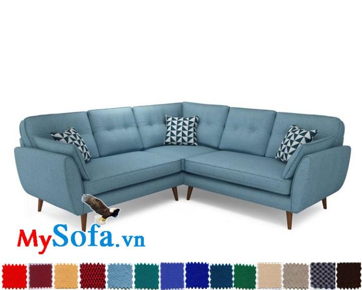 Sofa góc chất liệu nỉ đẹp, giá thành rẻ cho phòng khách hiện đại MyS-1910936