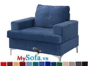 Ghế sofa đơn hiện đại màu xanh dương MyS-1910805