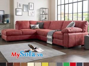 Ghế sofa góc chất nỉ cho phòng khách đẹp sang trọng MyS-1910613