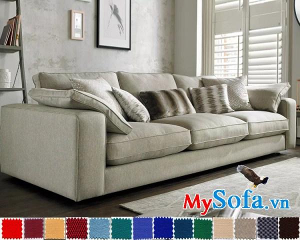 Mẫu ghế sofa văng nỉ đẹp MyS-1910602