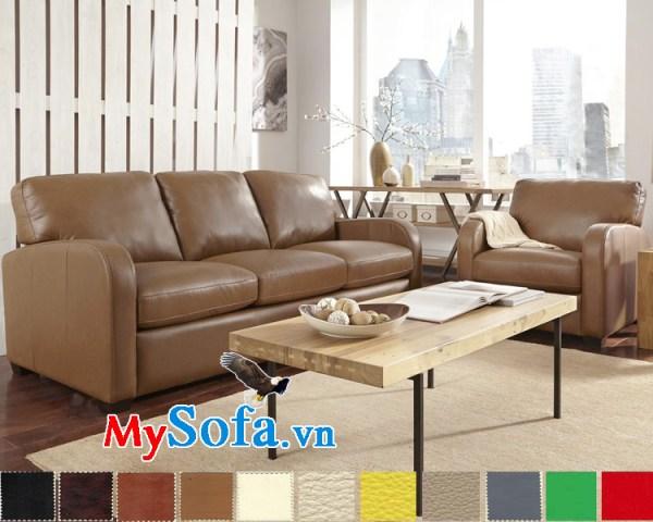 Ghế sofa văng đẹp chất liệu da MyS-1910864