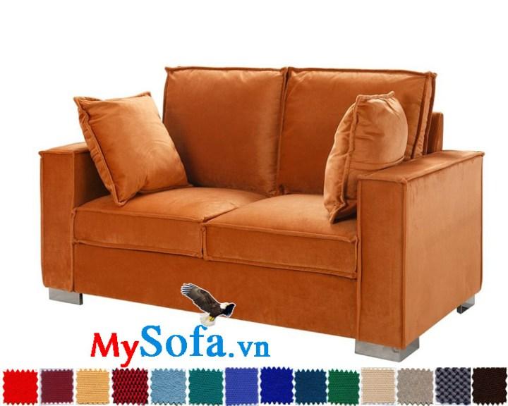 Ghế sofa nỉ màu cam 2 chỗ ngồi MyS-1910738