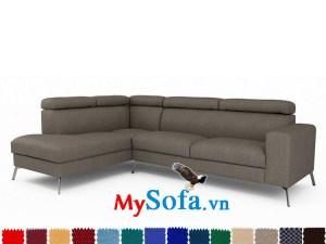 sofa góc chữ L màu xám lông chuột MyS-1910898