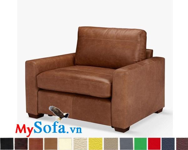ghế sofa đơn màu da bò MyS-1911533