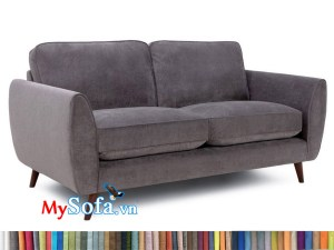 sofa văng nỉ nhung tím MyS-1911616