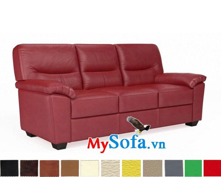 Ghế sofa văng da đẹp 3 chỗ ngồi