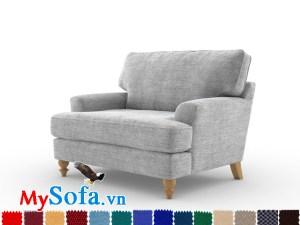 sofa đơn chất nỉ kiểu dáng đẹp mắt MyS-1911569