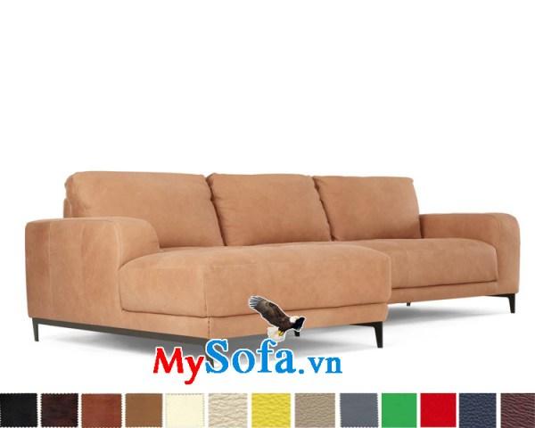 sofa góc nỉ đẹp cho phòng khách rộng MyS-1910635