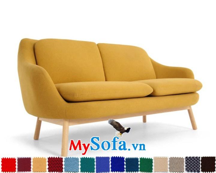 sofa văng chất nỉ chân gỗ cao rất đẹp MyS-1910644