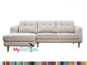 mẫu sofa góc màu trắng kem MyS-1911638