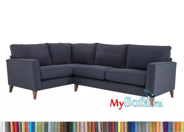 sofa góc nỉ màu ghi tối MyS-1911653