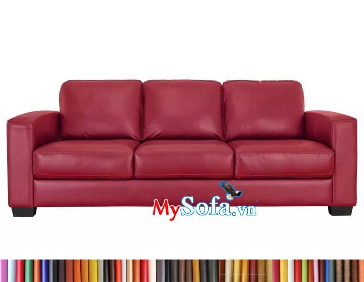 sofa văng da dài 3 chỗ ngồi màu đỏ đun MyS-1911662