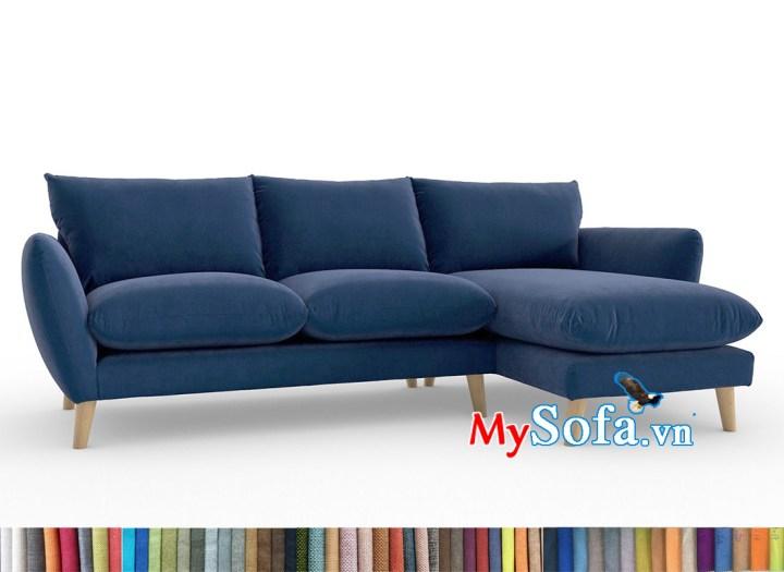 bộ sofa góc xanh navy MyS-1911695