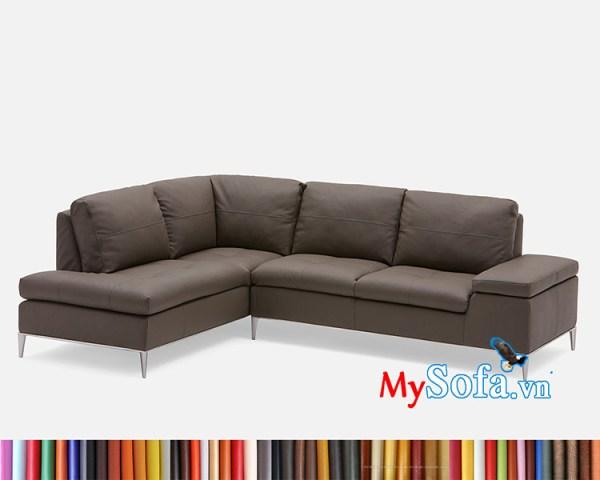 sofa góc MyS-1912325 màu da nâu sang trọng