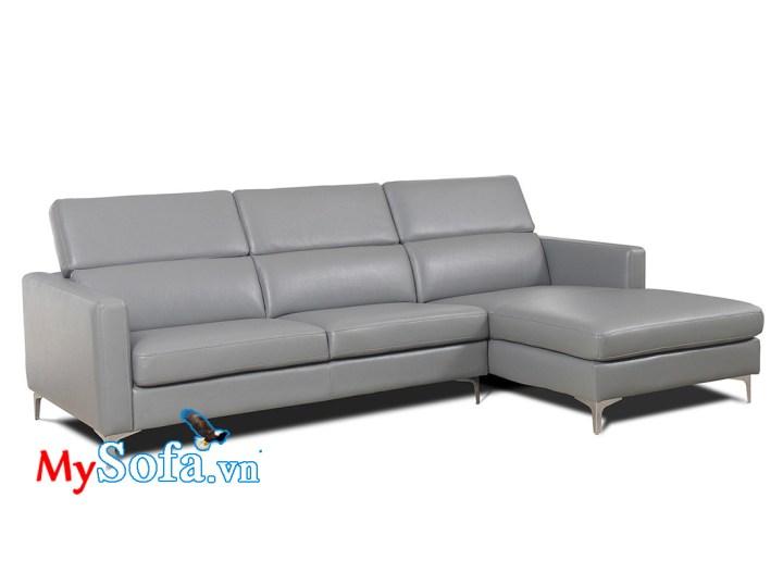 Mẫu ghế sofa da màu ghi