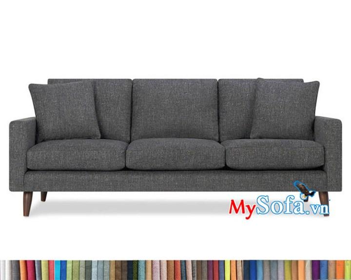 sofa nỉ văng chân gỗ tự nhiên MyS-1912423