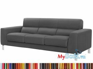 MyS-2001609 Ghế sofa văng da màu đen