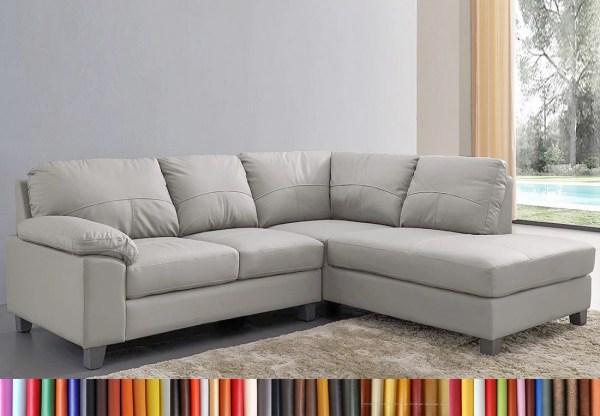 MyS-2001686 ghế sofa góc da màu trắng cao cấp