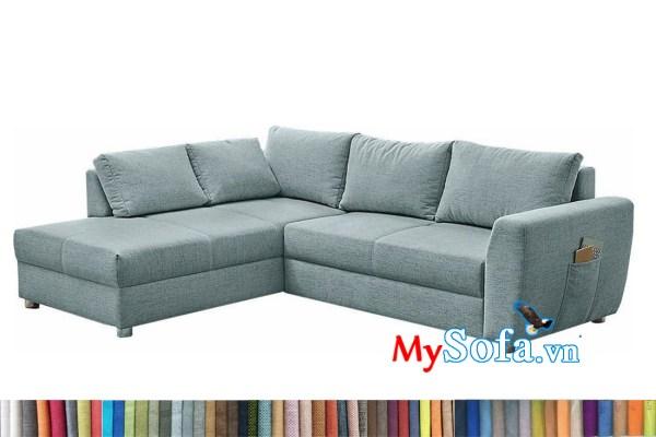 sofa góc chất nỉ MyS-2001955 đẹp