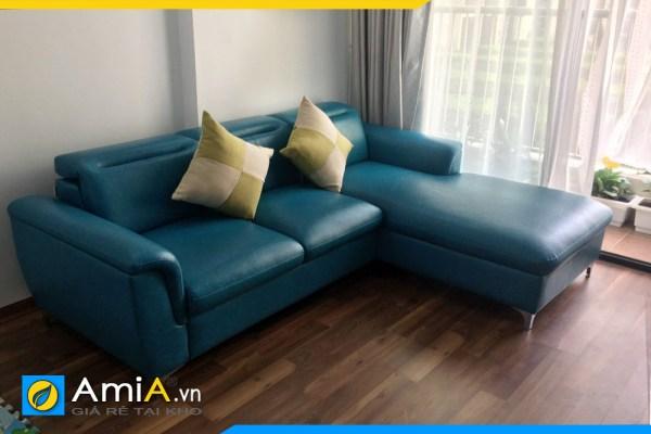 mau ghe sofa da mau xanh dep