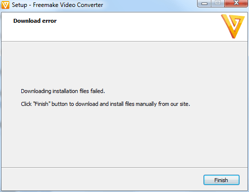 freemake download error