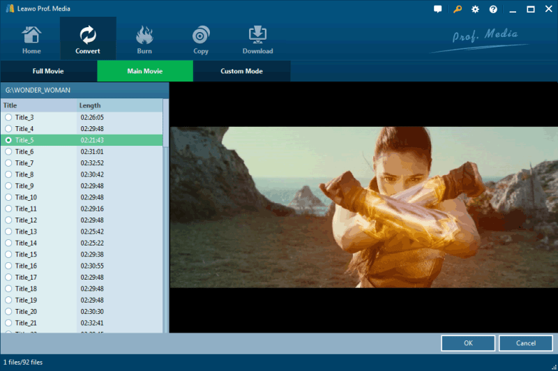 main mode for bluray ripping