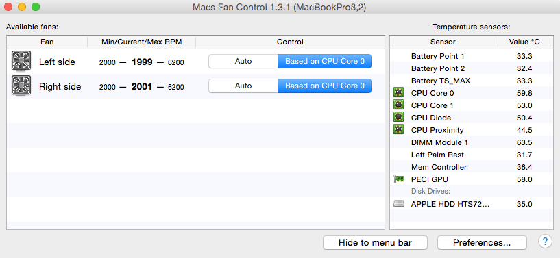 Mac Fans Control-a Fix for Mac overheating and noise problems