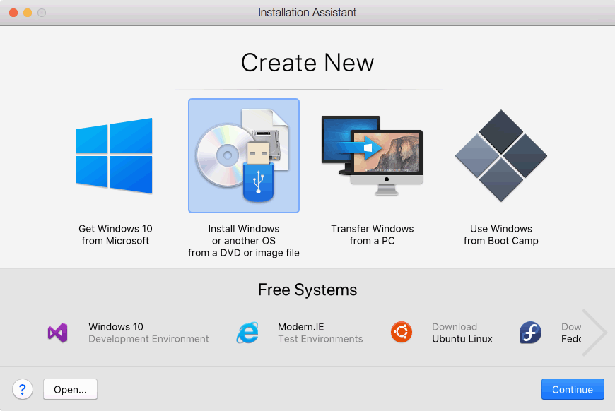 create new vm from iso