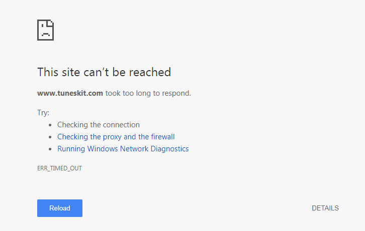 tuneskit can't be reached