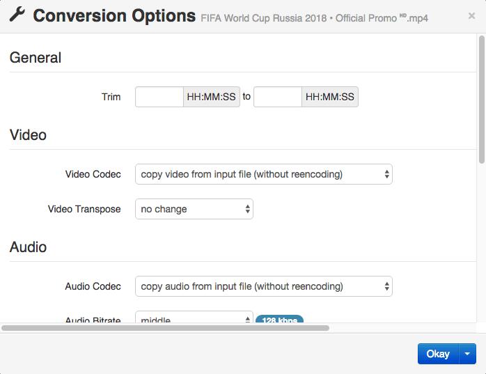 CloudConvert Conversion Options