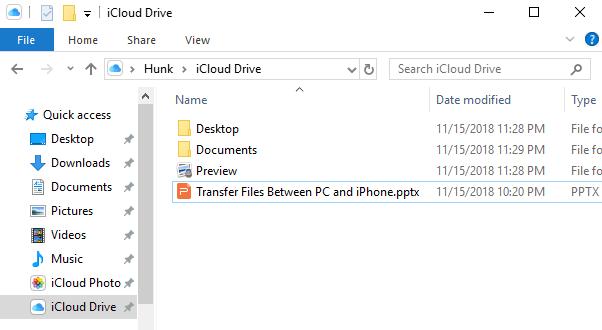 Transfer Files Between iPhone/iPad and PC via iCloud