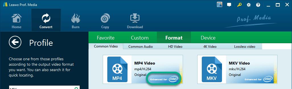 GPU Supported Profile