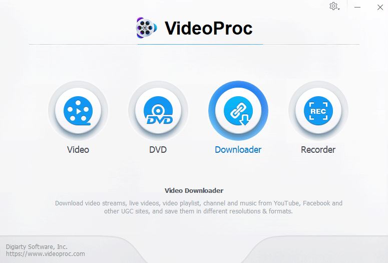 VideoProc 60FPS YouTube Video Downloader