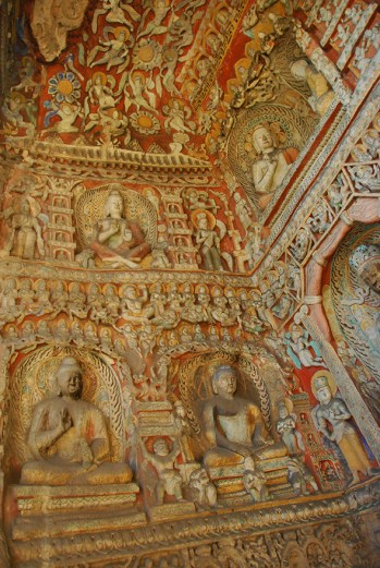 Most, if not all the caves had these intricate carvings all over the walls.