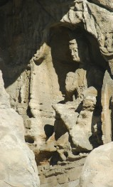 One of many Buddhas (first few I saw anyway) carved in the mountain