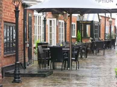 Cozy Cafes (a bit wet though - typical English weather)