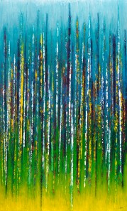 "And We Rise Up Rooted Like Trees, 60"" x 36"" $1850"
