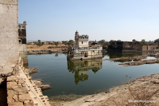 View of Padmini's Palace from the watch tower.