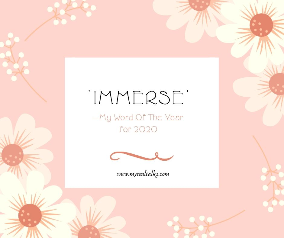 My Word Of The Year for 2020 | #WOTY