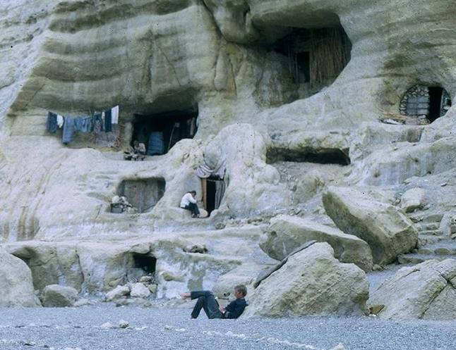 I lived in a limestone cave in Matala while in Crete