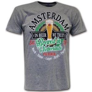 amsterdam beer t-shirt grey