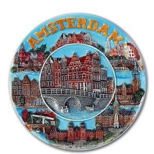 Amsterdam Bord Grachten Gekleurd