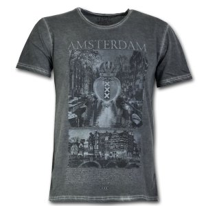 Amsterdam Canal View Vintage T-shirt