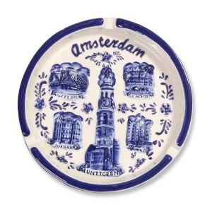 Amsterdam Asbak Delfts Blauw Rond